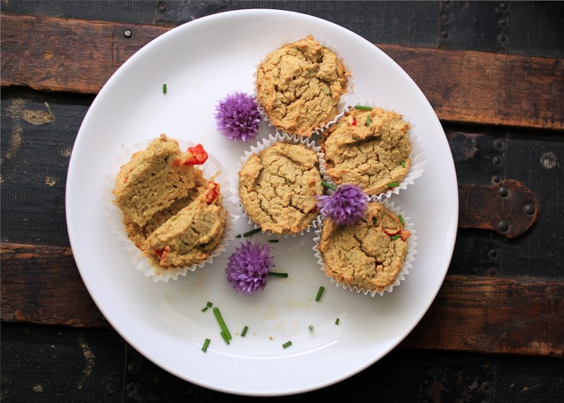 green thai coconut curry muffins