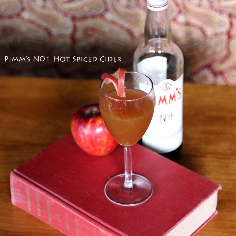 pimms no 1 hot spiced cider cocktail