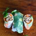 Salad Rolls with Lemongrass & Shiitake Mushroom Ground Pork