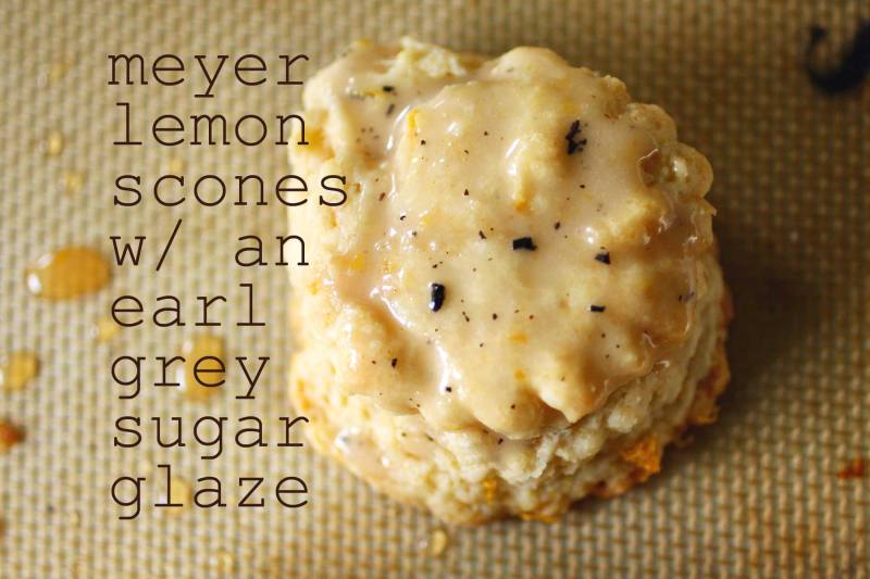 meyer lemon scones with an earl grey sugar glaze