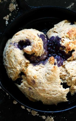 a big blueberry biscuit heart