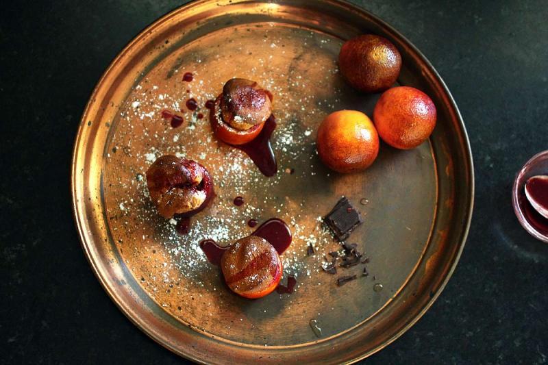 Blood Orange Chocolate Soufflés