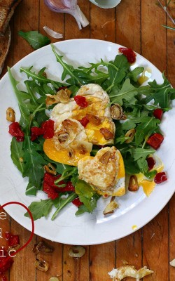 Love and Garlic: Garlic Eggs and Arugula Salad