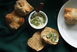Feeling Lucky: Individual Irish Soda Breads with chive butter