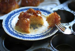 Individual Rhubarb Upside Down Cakes or Muffins