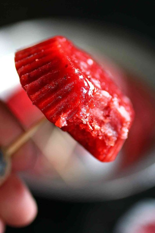 Strawberry Rose Popsicle Type Treats (Freeze Pops)