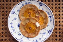 fresh orange and banana crepes: inspired by balinese banana pancakes