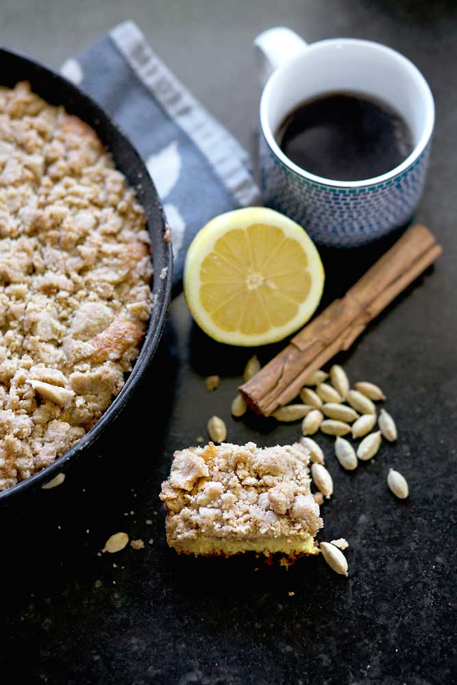 Cast Iron Crumb Cake|RecipeFiction