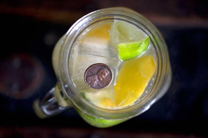 Mango Mule Cocktail w/penny|RecipeFiction