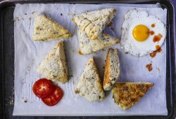 Blue Cheese Green Chile Scones