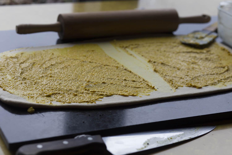 Making Sesame Turmeric Bread