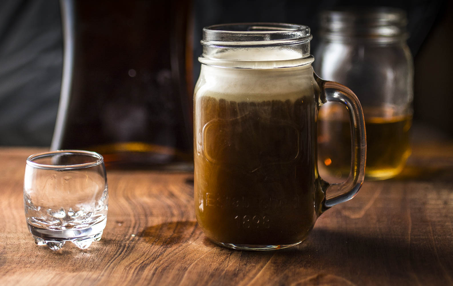 Snow on Sand: Hot Coffee Cocktail w/rum, orange liqueur, and amaretto cream