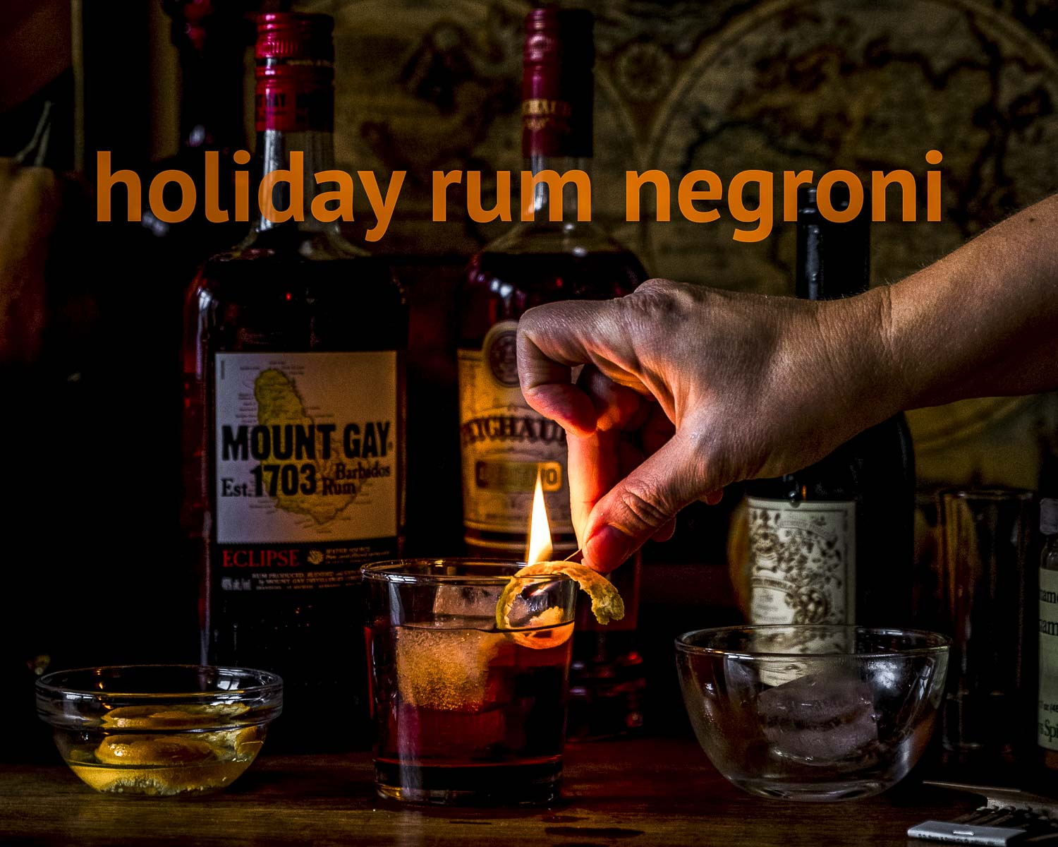 holiday rum negroni