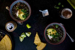 Weeknight Chili w/ground turkey, orca beans, and green chile