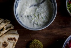 Tomatillo Tzatziki- raita, or just call it yogurt sauce