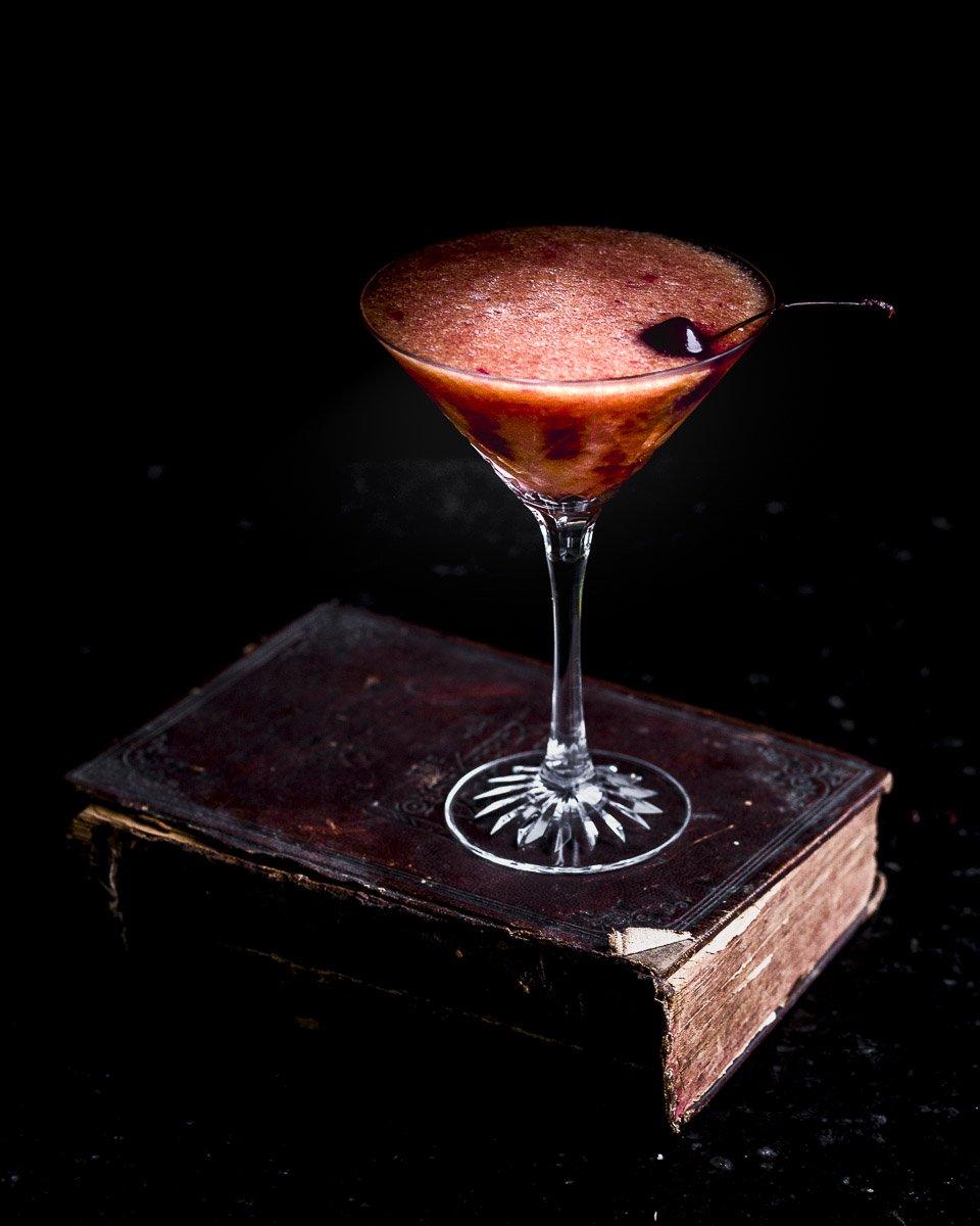 Pear Pomegranate Amaretto Cocktail
