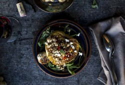Simple Vegetarian Stuffed Acorn Squash