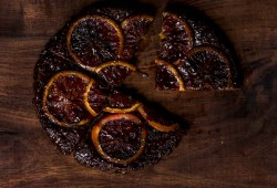 Upside-down Caramelized Orange Chocolate Tart