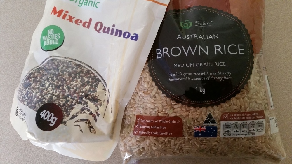 brown rice and quinoa in the microwave of marion s