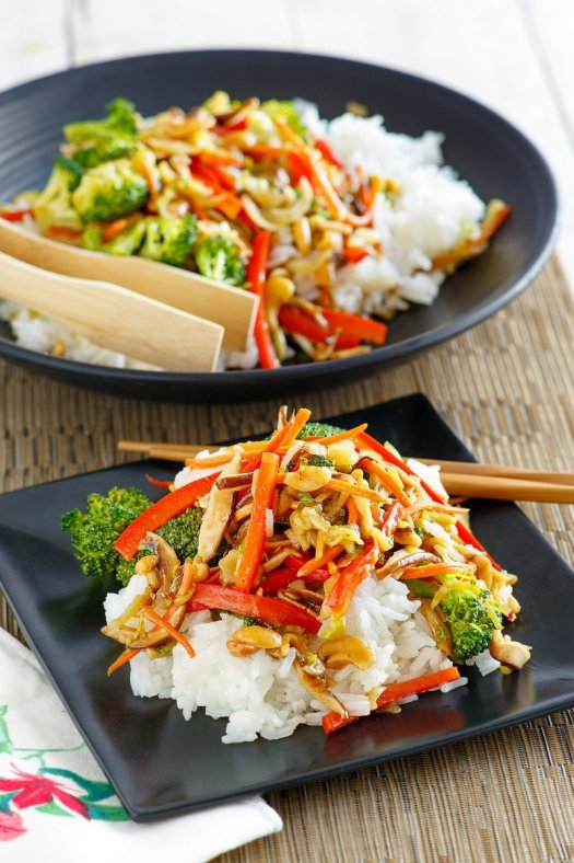 serving of Asian Vegetable Stir Fry