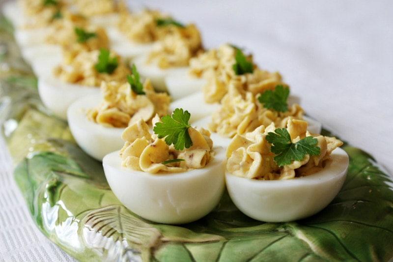 Bacon Balsamic Deviled Eggs