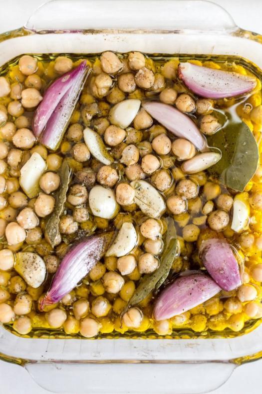 Preparing to roast garbanzo beans