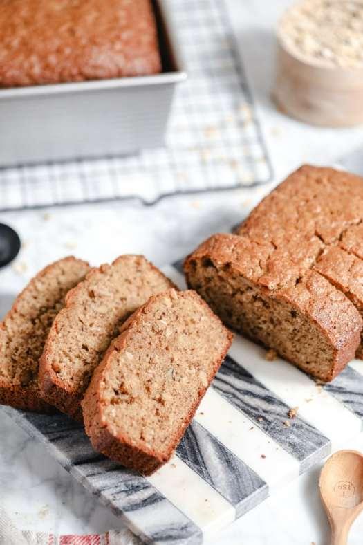 sliced applesauce oatmeal bread