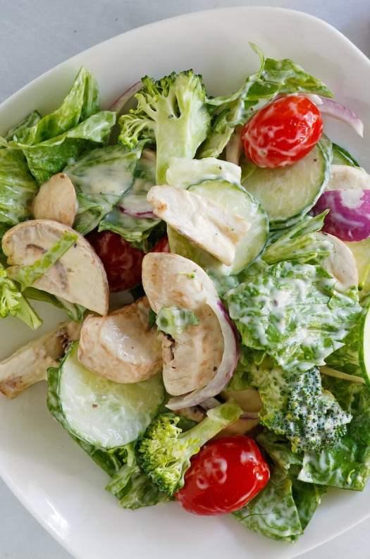 Romaine and Broccoli Salad