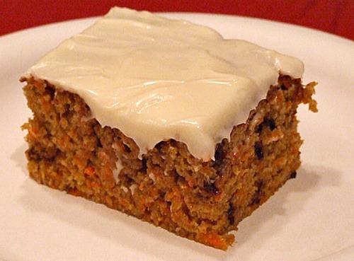 slice of Chocolate Chip Carrot Cake