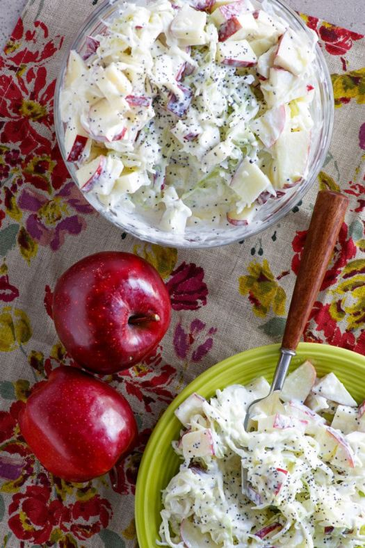 Bowls of Apple Cole Slaw