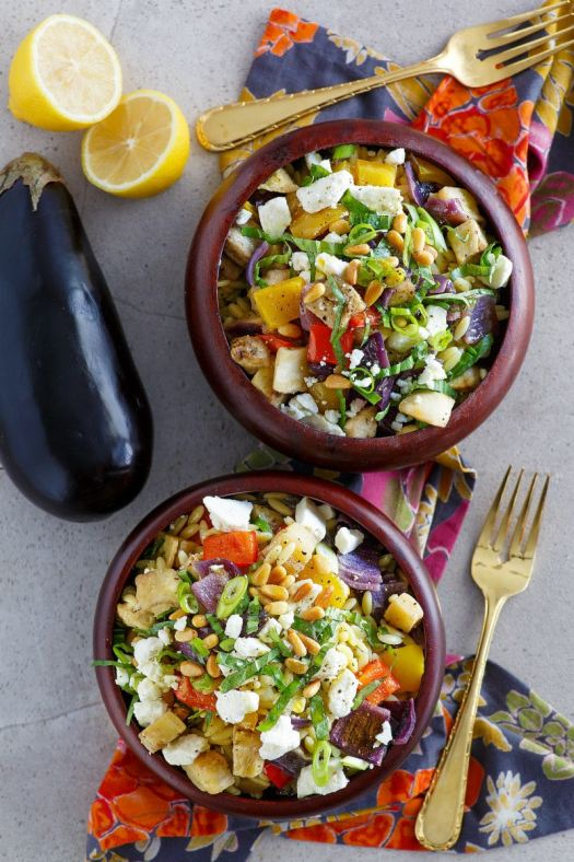 serving of Orzo with Roasted Vegetables