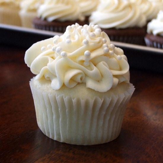 White Wedding Cake Cupcakes Recipe Girl
