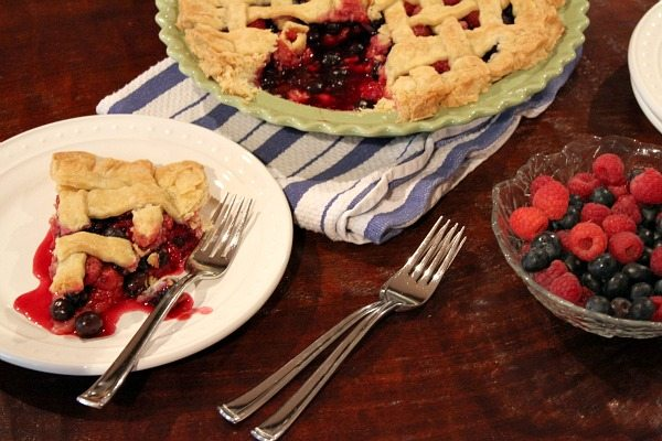 Raspberry- Blueberry Pie