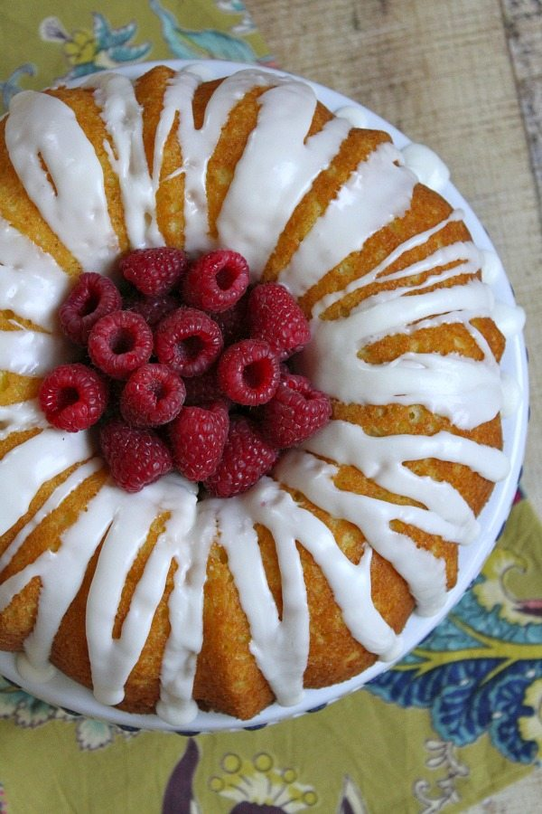 Raspberry- Lemonade Bundt Cake #recipe