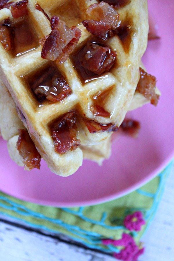 Maple- Bacon Waffles #recipe