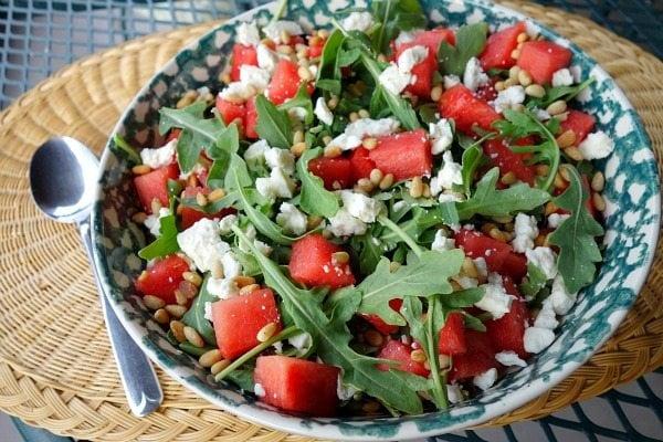 Watermelon, Feta and Arugula Salad #recipe