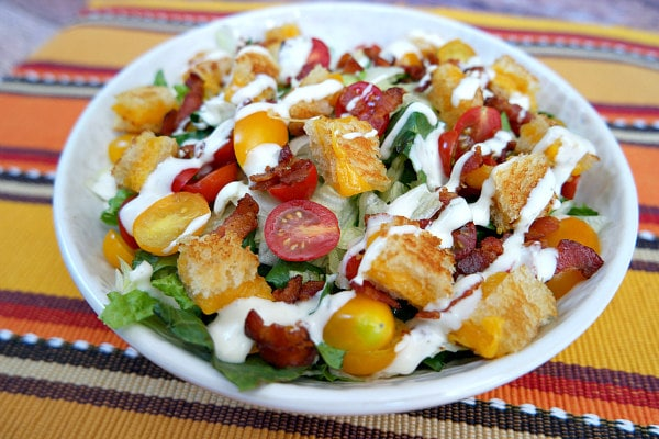 BLT Grilled Cheese Salad