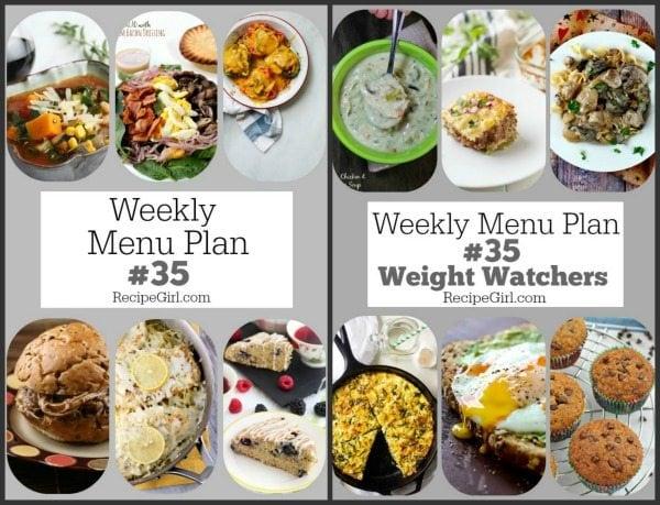 Weekly Menu Plans 35