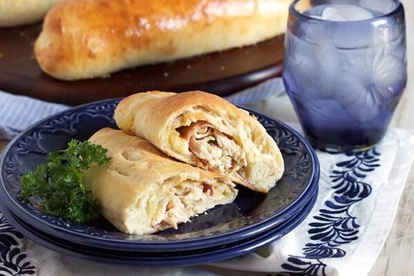 Chicken Cordon Bleu Calzones