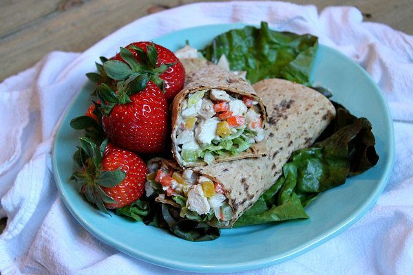 Crunchy BBQ Ranch Grilled Chicken Wraps recipe - by RecipeGirl.com : 6 Weight Watchers SmartPoints per wrap