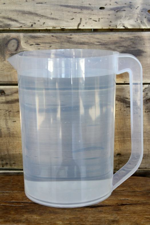 water in a pitcher