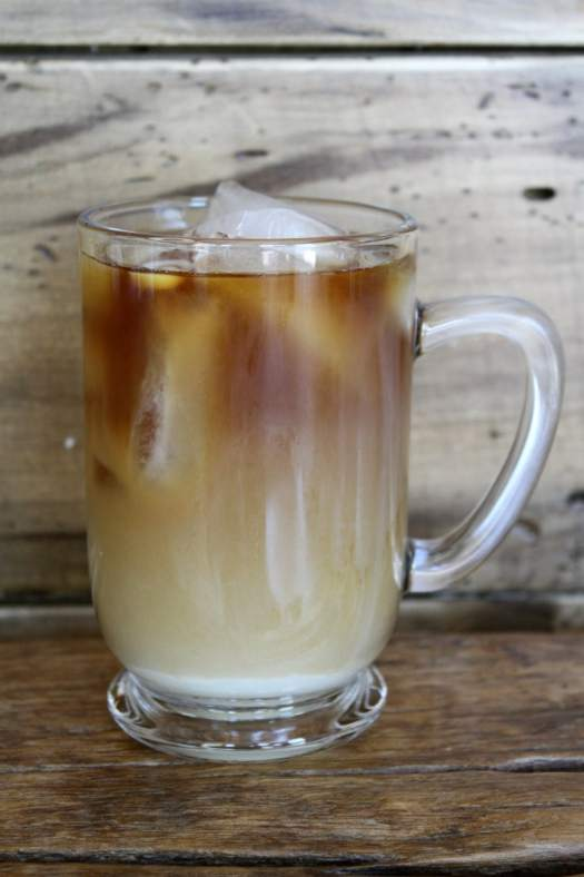 Cold Brew Coffee with Sweetened Condensed Milk and Milk