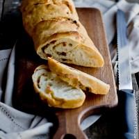 No Knead Sun Dried Tomato and Parmesan Bread