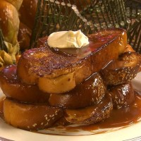 French Toast with Salted Caramel and Creme Fraiche