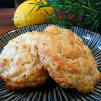 Rosemary Lemon Drop Biscuits