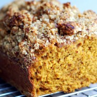 Toasted Hazelnut Streusel Pumpkin Bread