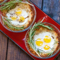 Quail Eggs in Hash Brown Nests