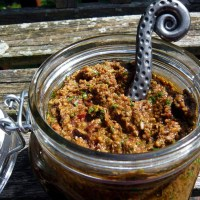 Olive Tapenade with Arugula and Sun-Dried Tomato