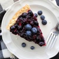 Blueberry-Cream Cheese Pie with Shortbread Crust