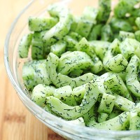 Cucumber Dill Greek Yogurt Salad